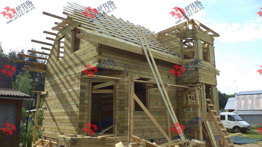 дом из профилированного бруса построенный по проекту Вариант 6 К фотография 3570