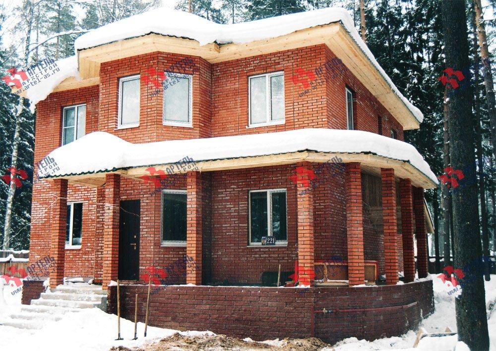 дом омбинированные дома построенный по проекту Вариант 10,6К Камень и Комбинированный фотография 6284
