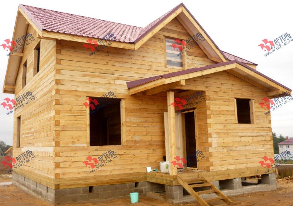 дом из бруса построенный по проекту Вариант 8 А-1 фотография 2562