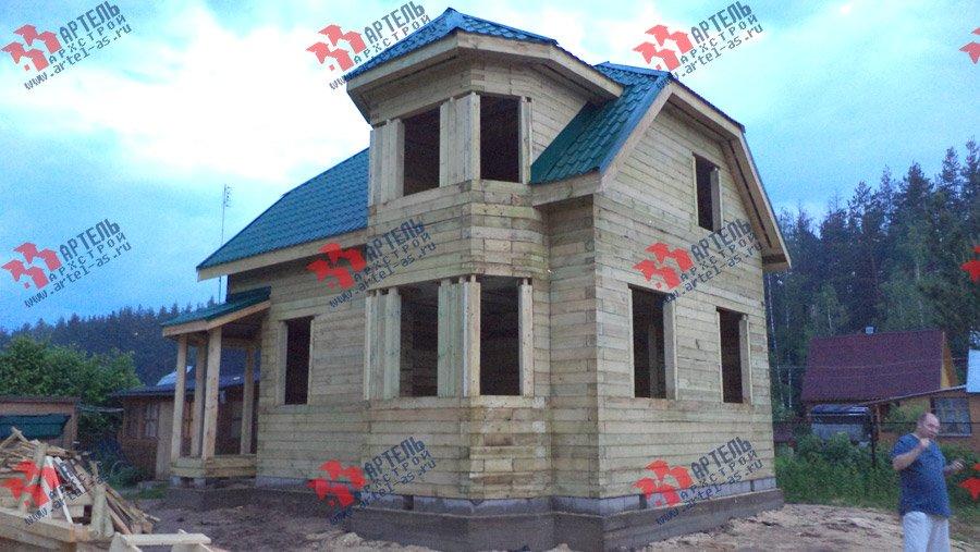 дом из профилированного бруса построенный по проекту Вариант 6 К фотография 3571