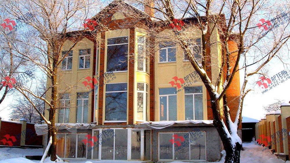 дом омбинированные дома построенный по проекту Вариант 10,6К Камень и Комбинированный фотография 1626
