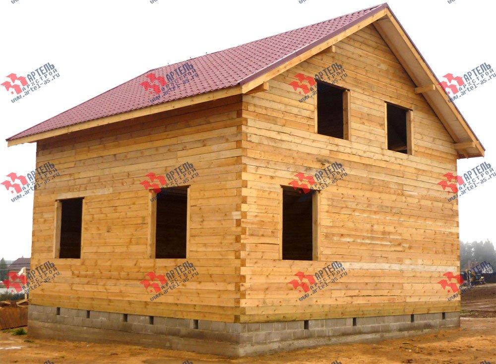 дом из бруса построенный по проекту Вариант 8 А-1 фотография 2563