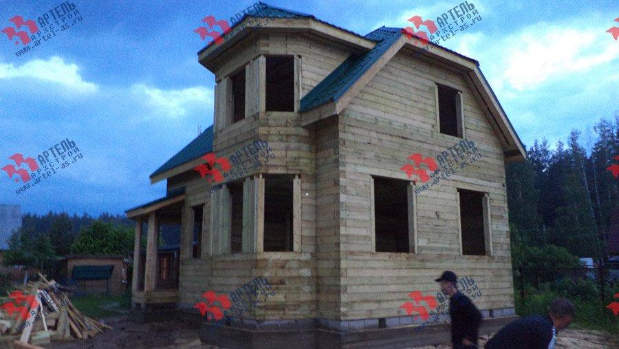 дом из профилированного бруса построенный по проекту Вариант 6 К фотография 3573