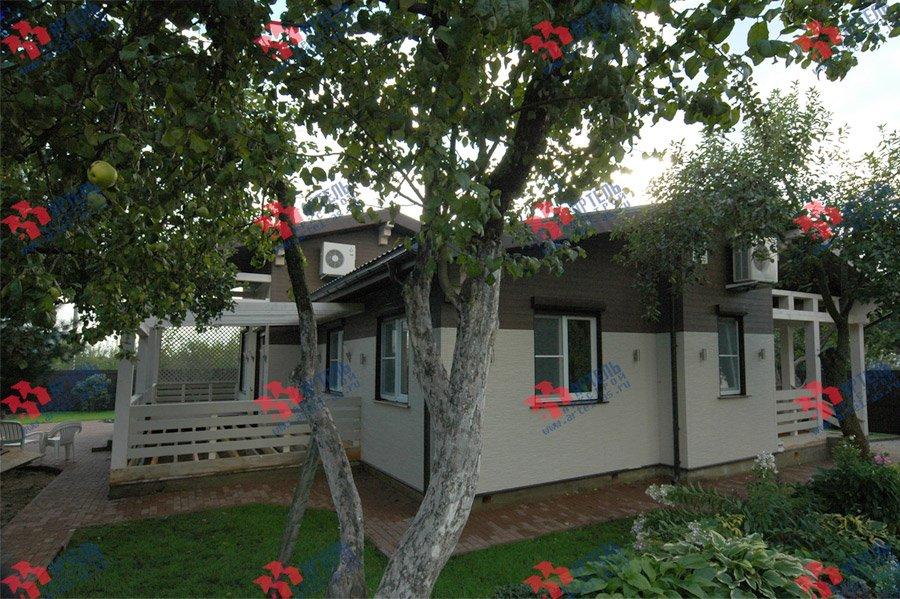дом из профилированного бруса камерной сушки построенный по проекту Вариант 5 фотография 3740