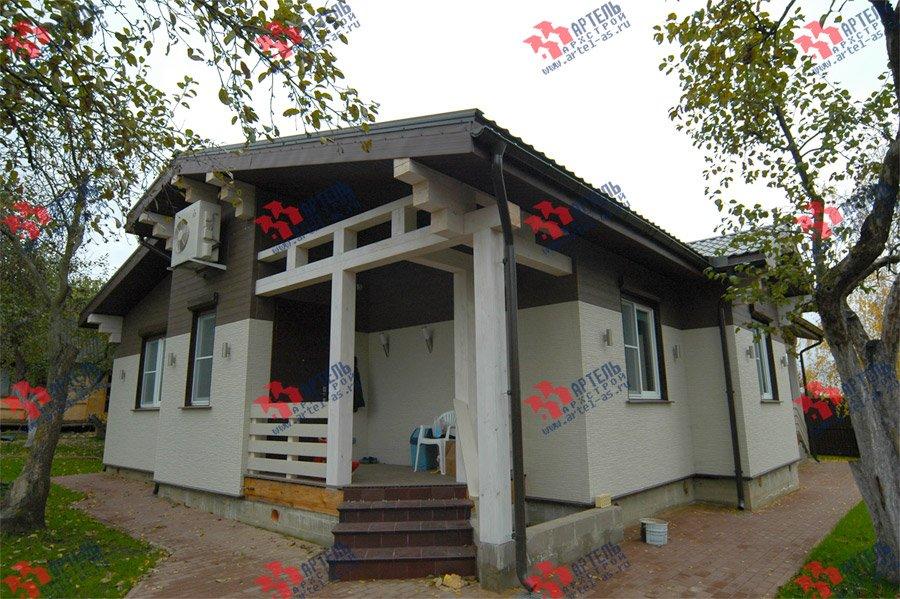 дом из профилированного бруса камерной сушки построенный по проекту Вариант 5 фотография 3742
