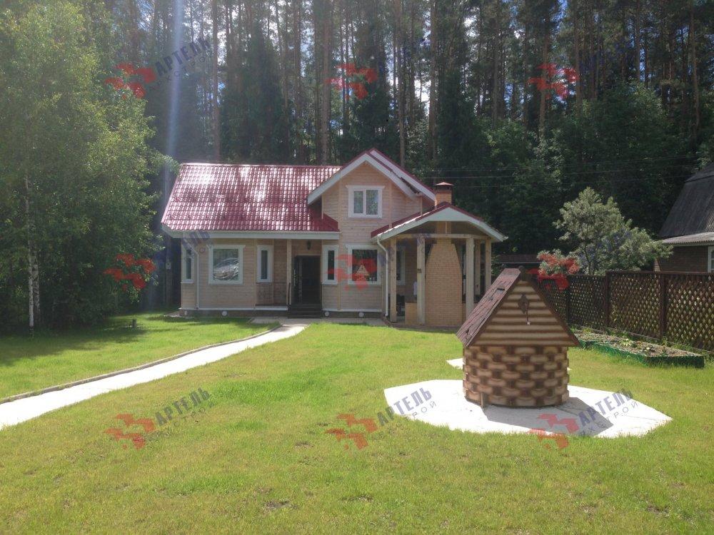 дом из профилированного бруса построенный по проекту Вариант 6.7 Б фотография 5178