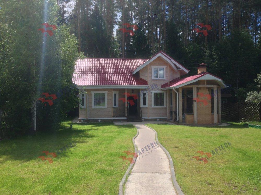 дом из профилированного бруса построенный по проекту Вариант 6.7 Б фотография 5177