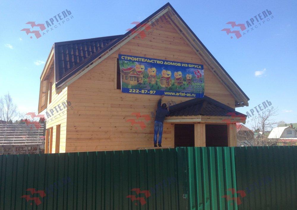 дом из профилированного бруса построенный по проекту Вариант 6 Д фотография 5192