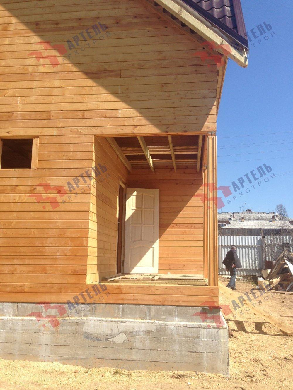 дом из профилированного бруса построенный по проекту Вариант 6 Д фотография 5193