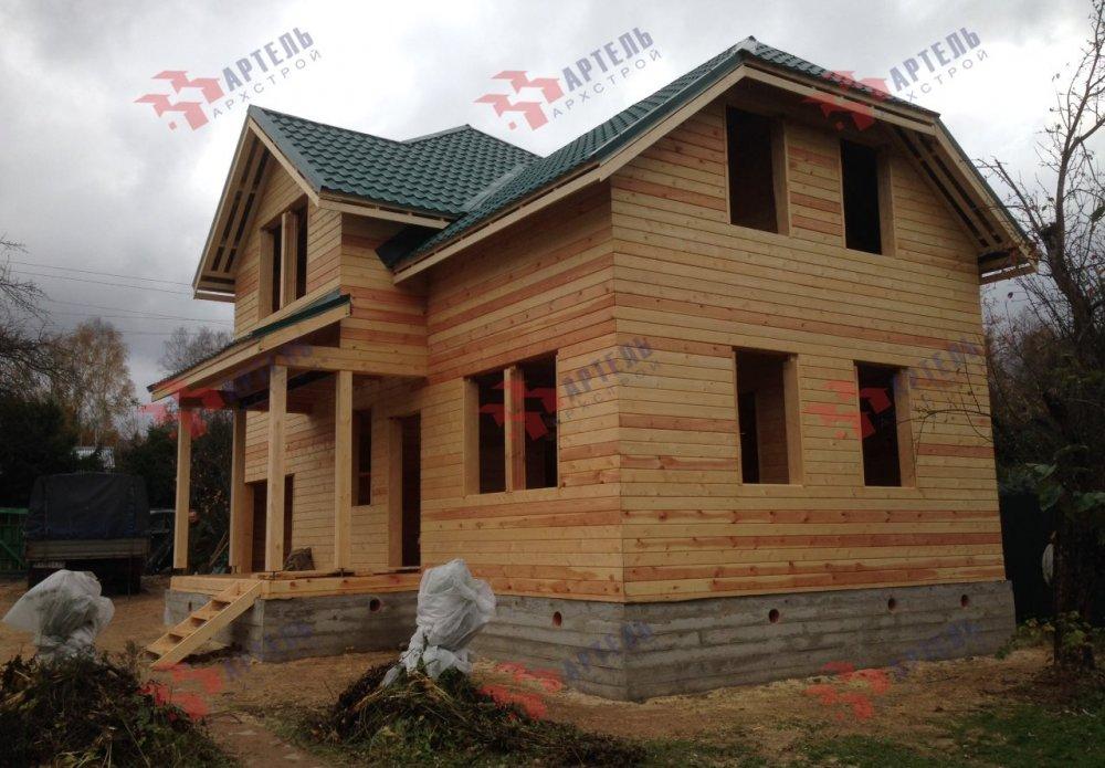 дом из бруса построенный по проекту Вариант 6 М фотография 5179