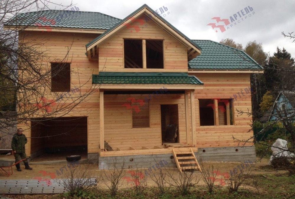 дом из бруса построенный по проекту Вариант 6 М фотография 5181