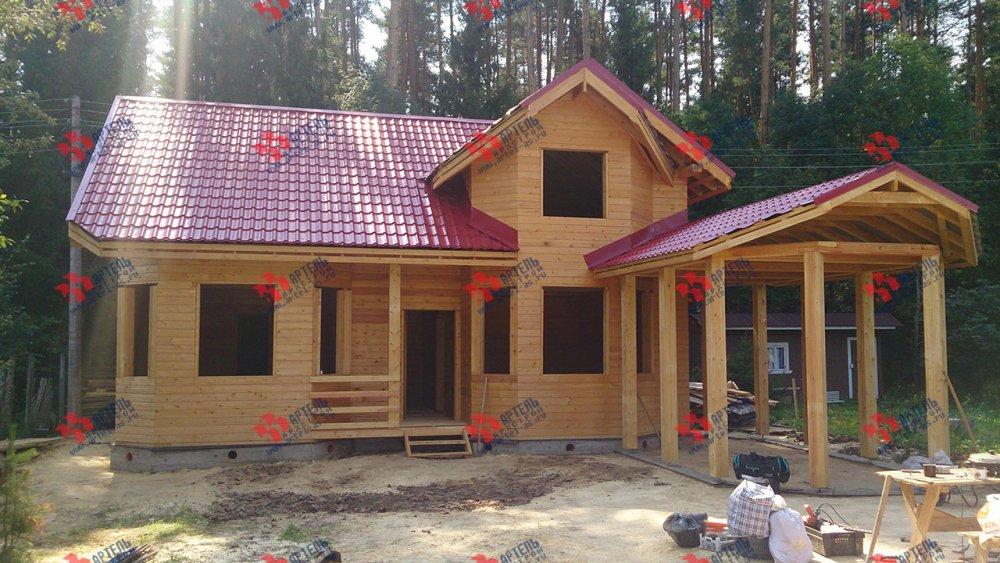 дом из профилированного бруса построенный по проекту Вариант 6.7 Б фотография 4609