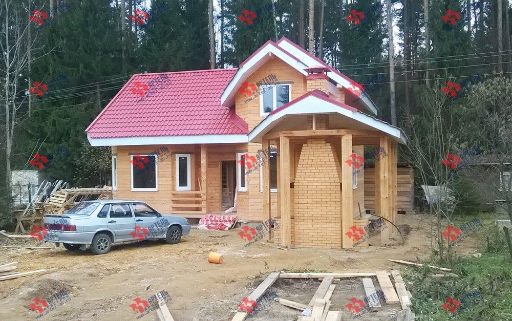 дом из профилированного бруса построенный по проекту Вариант 6.7 Б фотография 4601