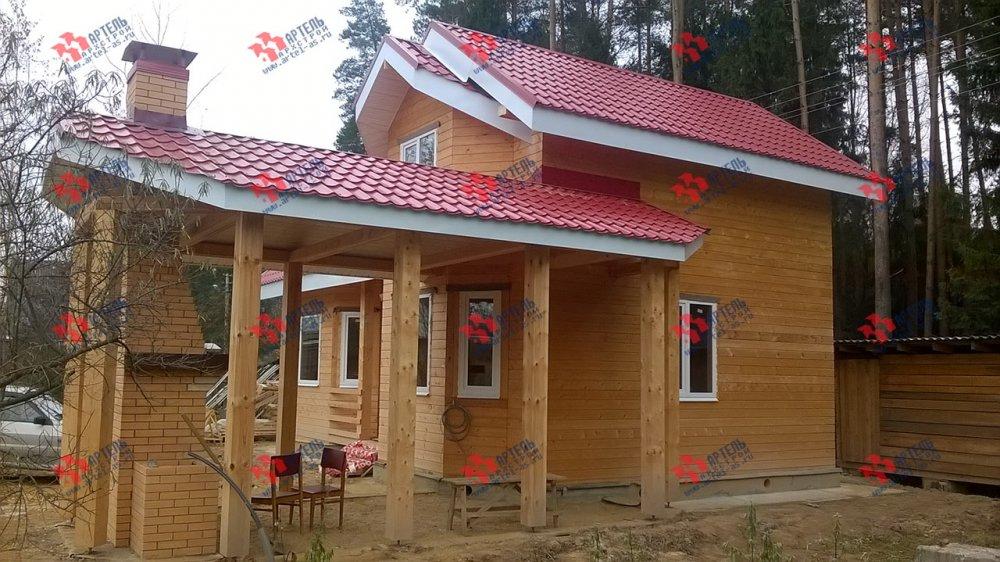 дом из профилированного бруса построенный по проекту Вариант 6.7 Б фотография 4602