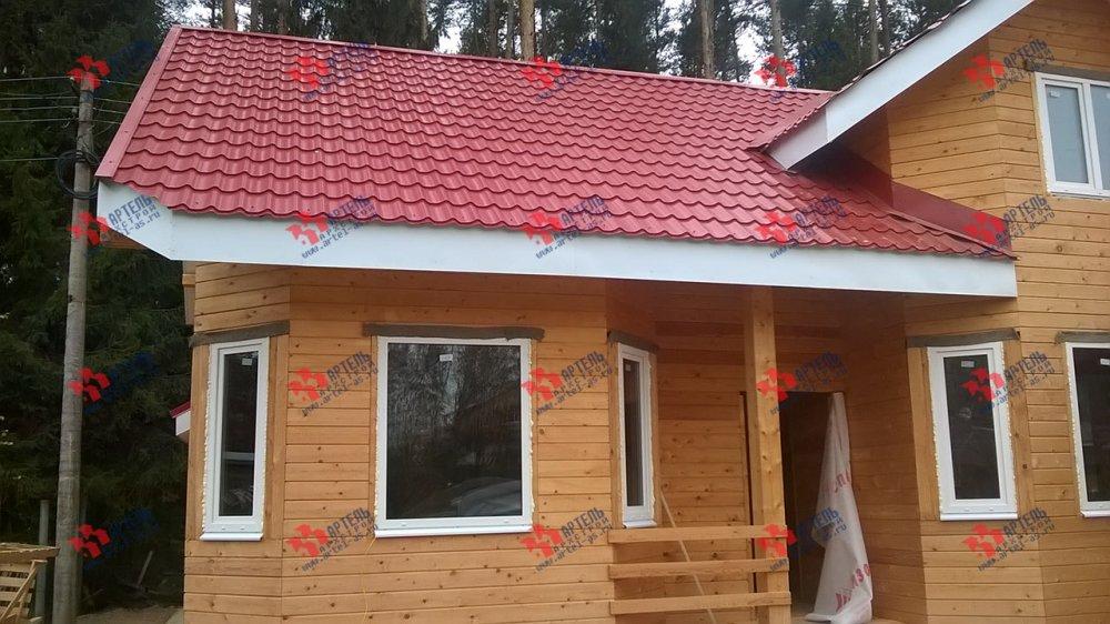 дом из профилированного бруса построенный по проекту Вариант 6.7 Б фотография 4603
