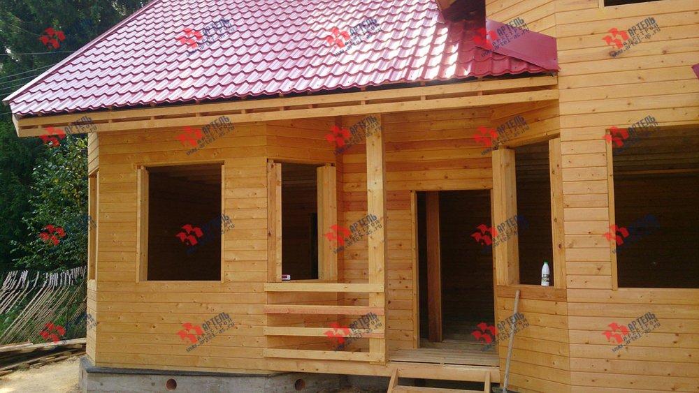 дом из профилированного бруса построенный по проекту Вариант 6.7 Б фотография 4606
