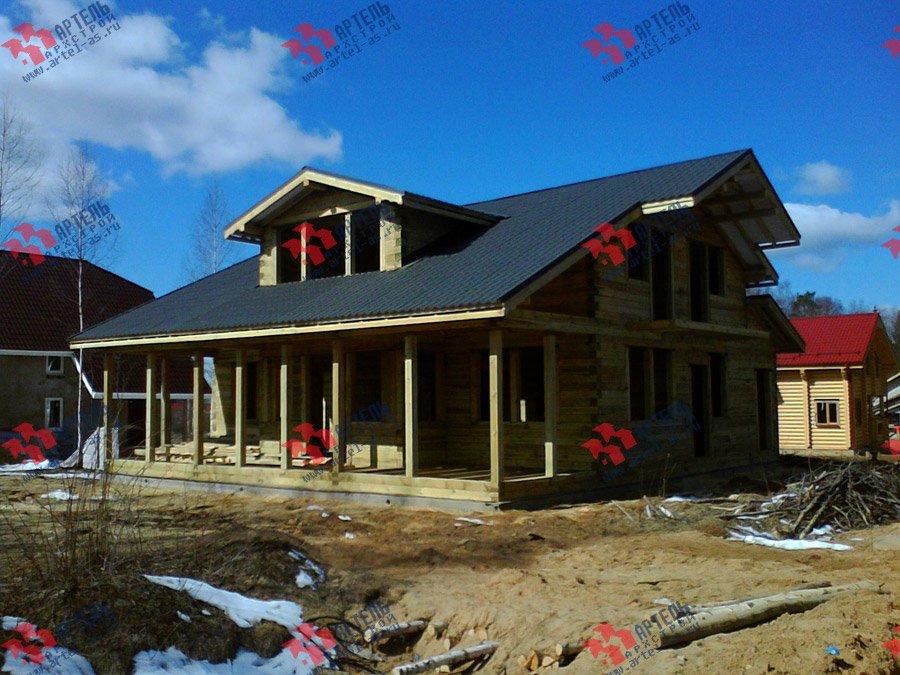 дом из профилированного бруса построенный по проекту Вариант 11 К фотография 3564