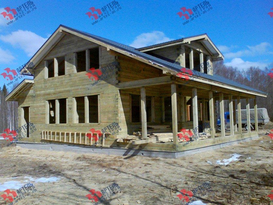 дом из профилированного бруса построенный по проекту Вариант 11 К фотография 3565