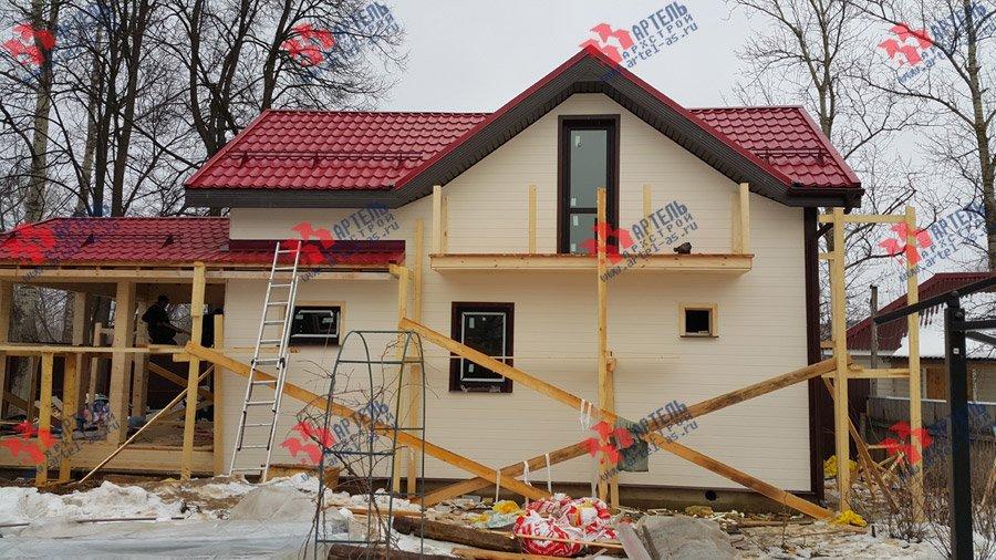 дом из профилированного бруса построенный по проекту Вариант 7 фотография 3723