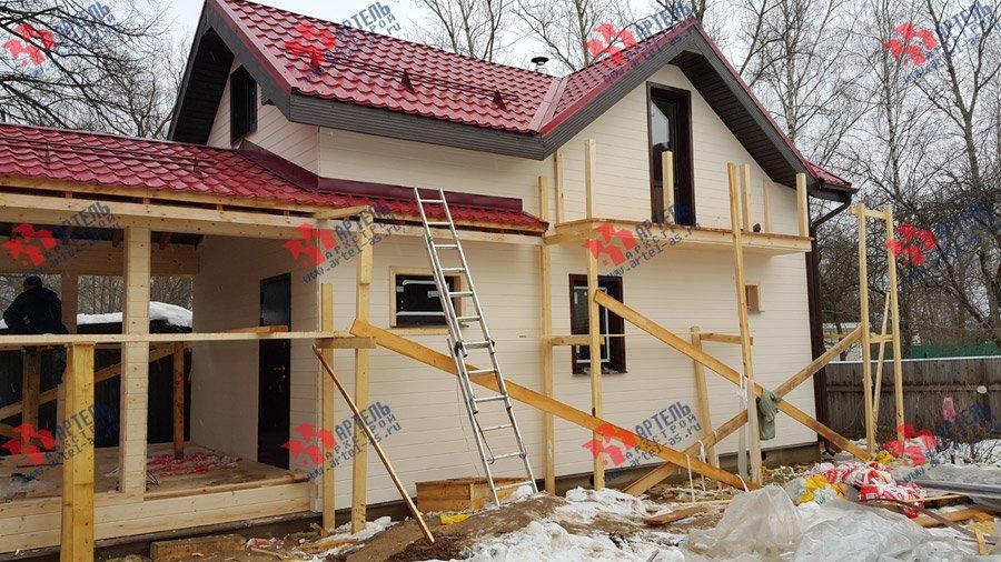 дом из профилированного бруса построенный по проекту Вариант 7 фотография 3724