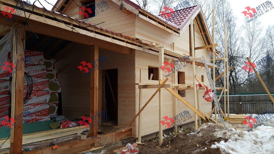 дом из профилированного бруса построенный по проекту Вариант 7 фотография 3725