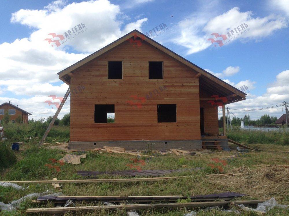 дом из профилированного бруса построенный по проекту Вариант 8.3 А фотография 5152