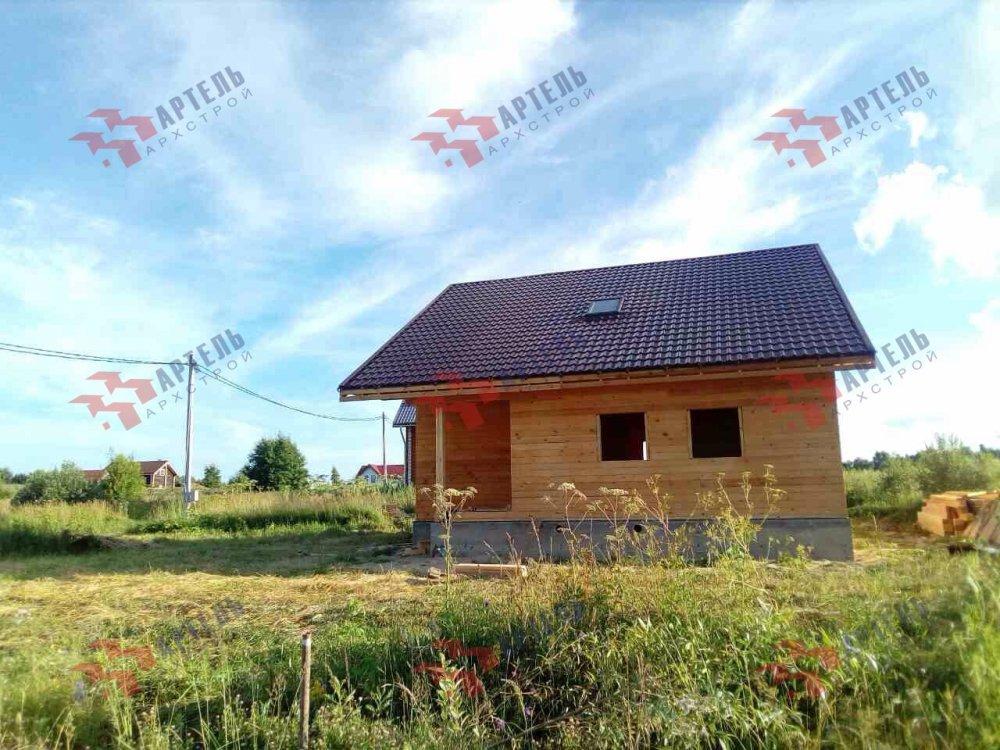 дом из профилированного бруса построенный по проекту Вариант 8.3 А фотография 5154