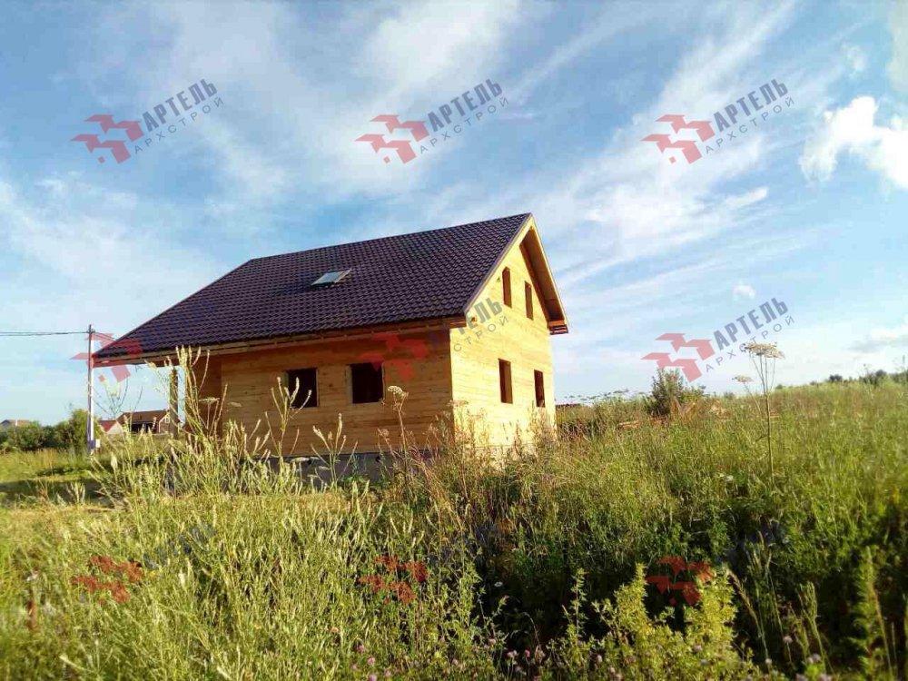 дом из профилированного бруса построенный по проекту Вариант 8.3 А фотография 5155