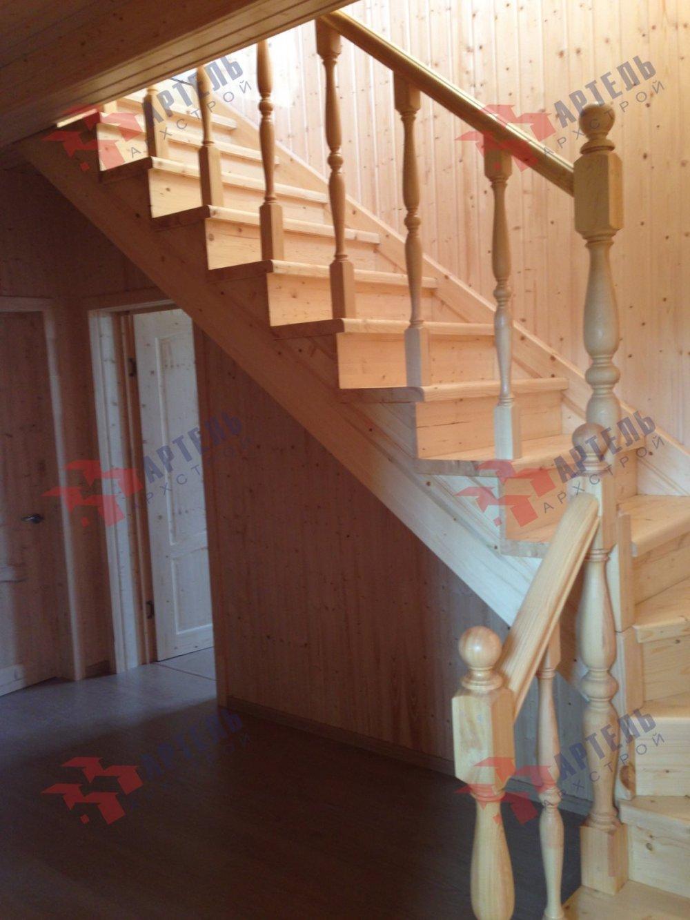 дом из бруса построенный по проекту Вариант 8 А-1 фотография 5204