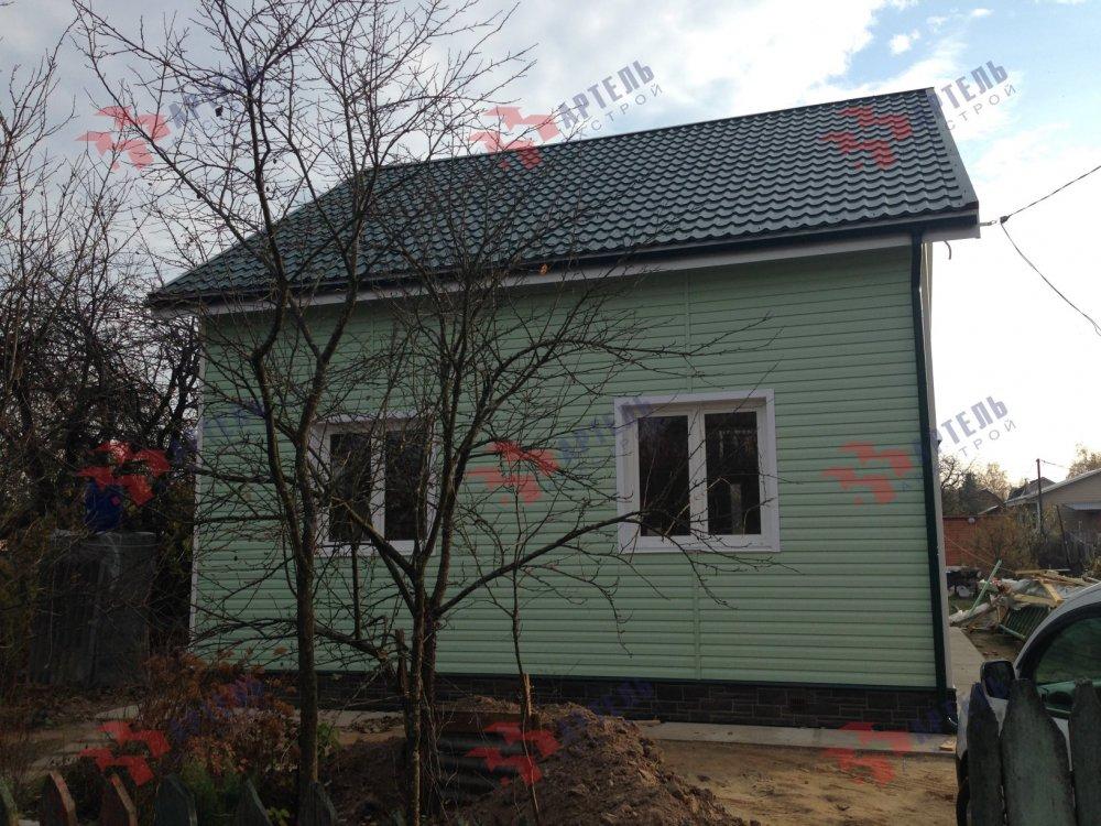 дом из бруса построенный по проекту Вариант 8 А-1 фотография 5197