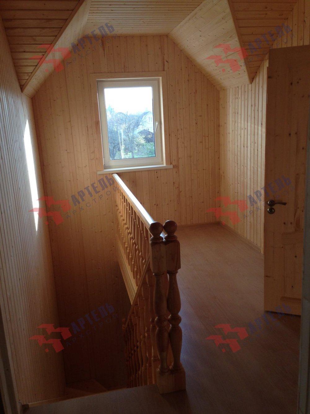 дом из бруса построенный по проекту Вариант 8 А-1 фотография 5202