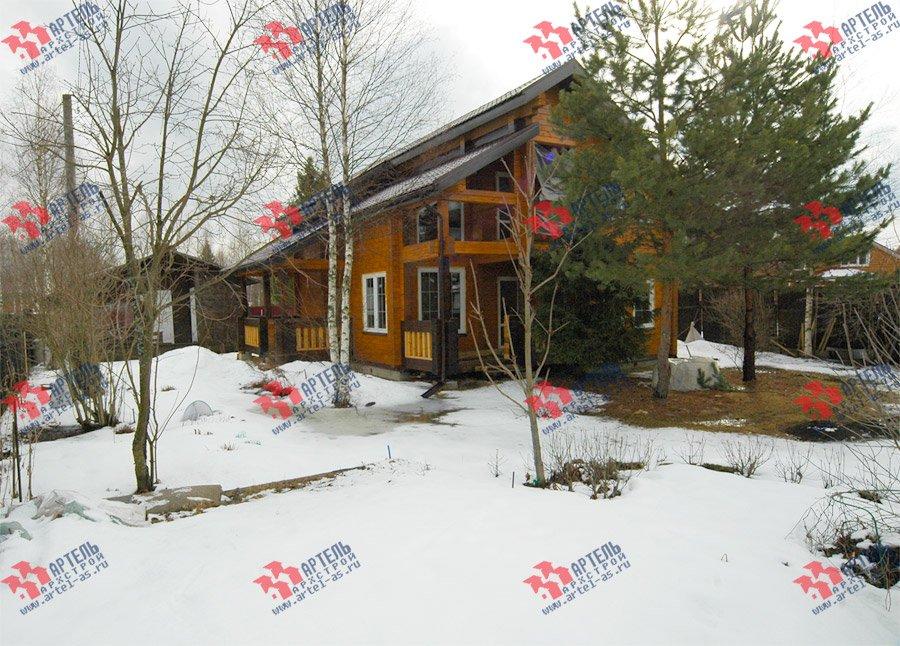 дом из профилированного бруса построенный по проекту Вариант 8.6 К фотография 3734