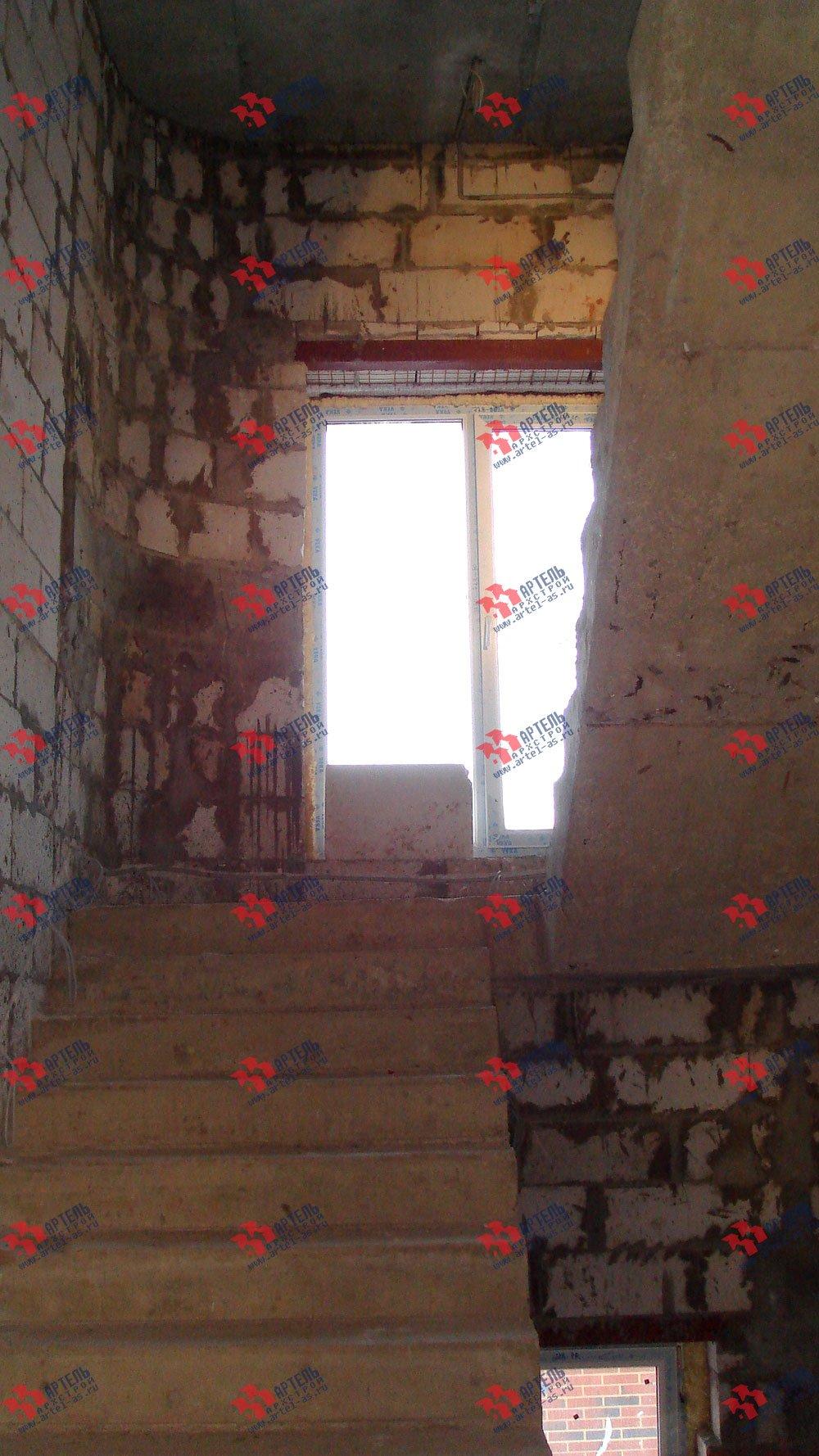 дом омбинированные дома построенный по проекту Вариант 10,6К Камень и Комбинированный фотография 1630