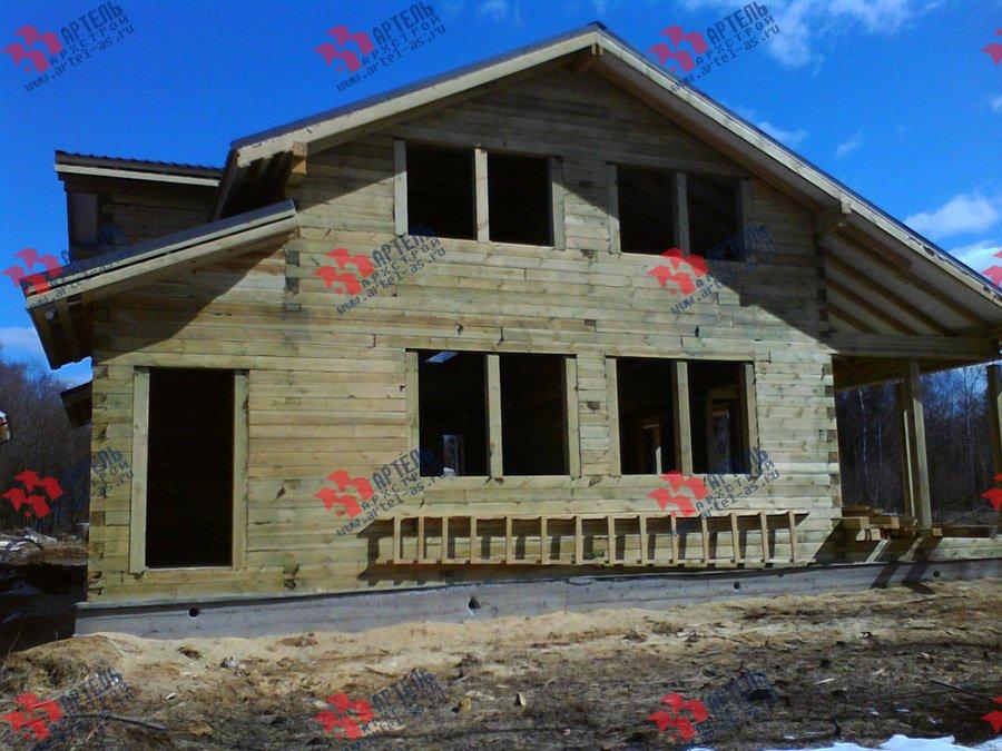 дом из профилированного бруса построенный по проекту Вариант 11 К фотография 3566