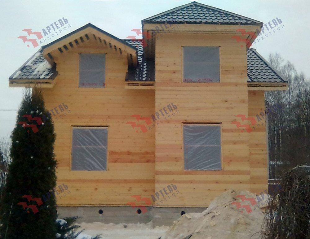 дом из профилированного бруса построенный по проекту Вариант 9С фотография 5147