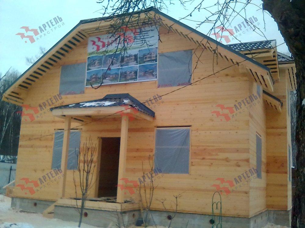 дом из профилированного бруса построенный по проекту Вариант 9С фотография 5149