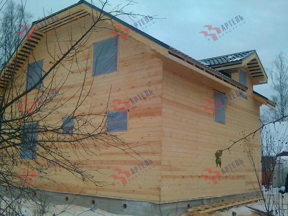дом из профилированного бруса построенный по проекту Вариант 9С фотография 5150