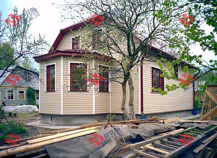 дом из бруса построенный по проекту Вариант 8 Д фотография 1761