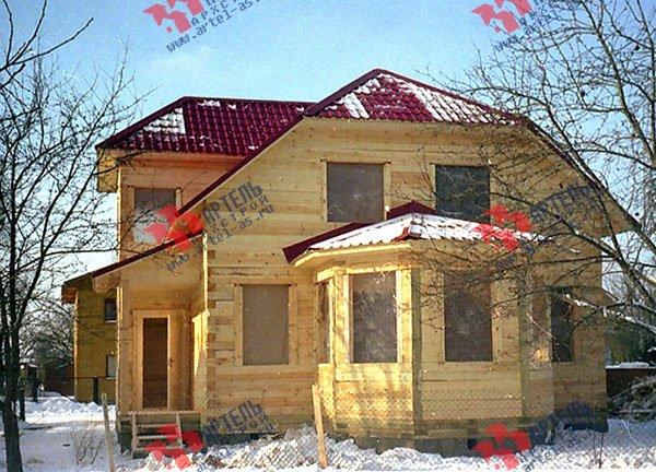 дом из бруса построенный по проекту Вариант 8 Д фотография 1762