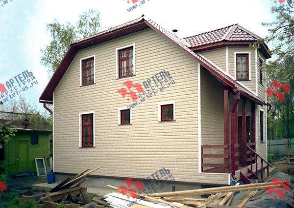дом из бруса построенный по проекту Вариант 8 Д фотография 1763