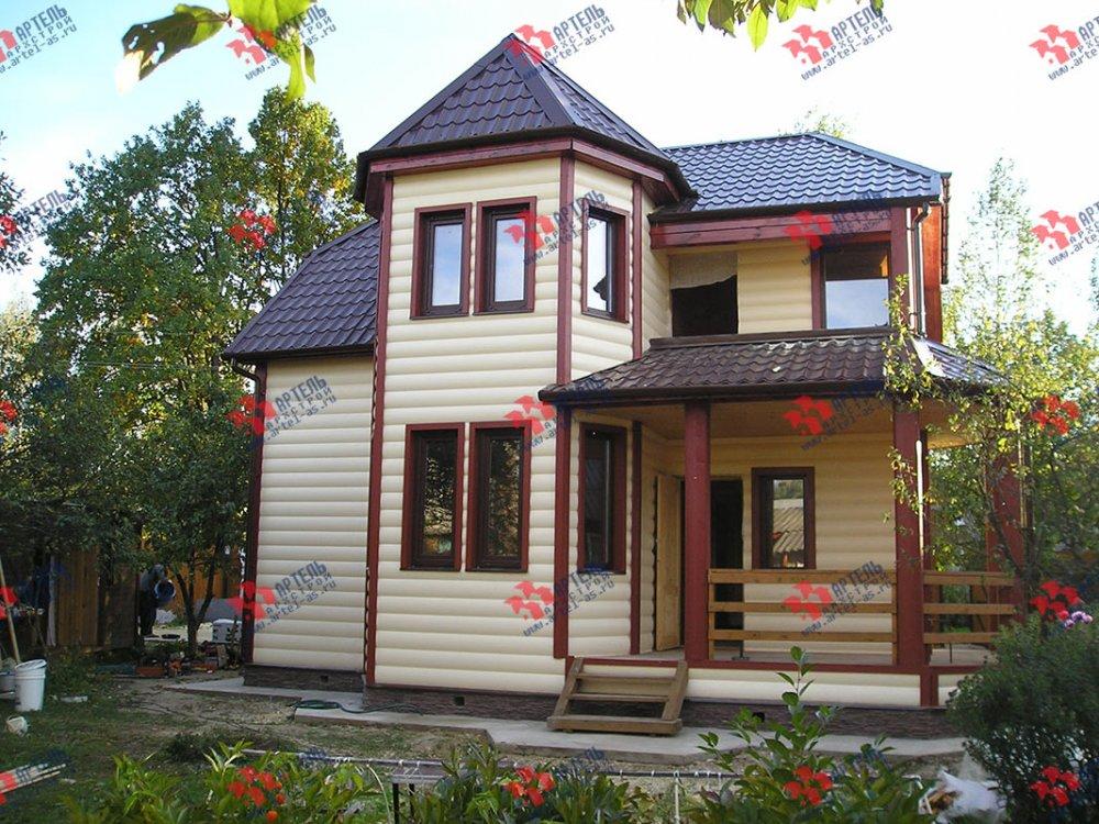 дом из профилированного бруса построенный по проекту Вариант 8 Л фотография 4799