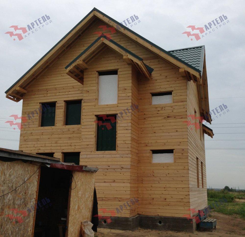 дом из бруса построенный по проекту Вариант 7 А фотография 5167