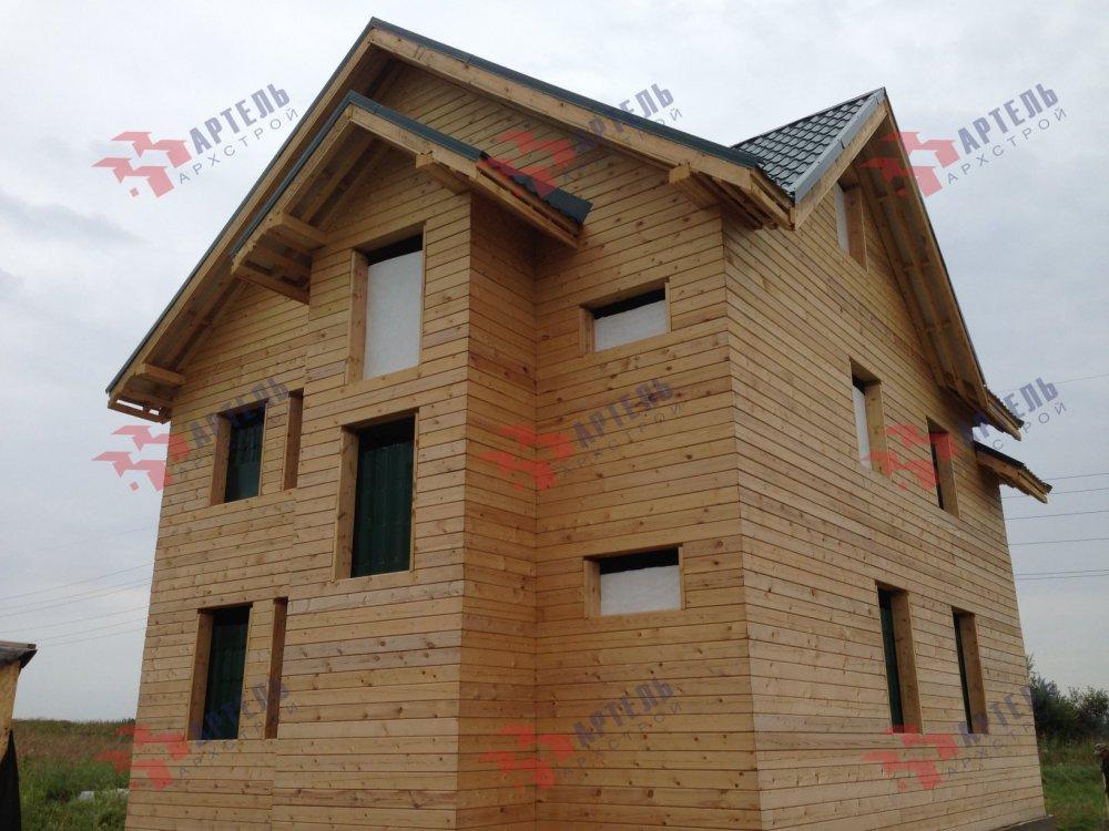 дом из бруса построенный по проекту Вариант 8 П фотография 5168