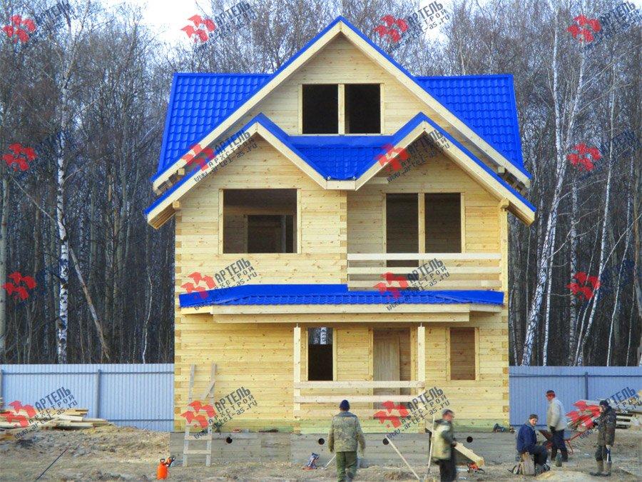дом из бруса построенный по проекту Вариант 8 П фотография 3753