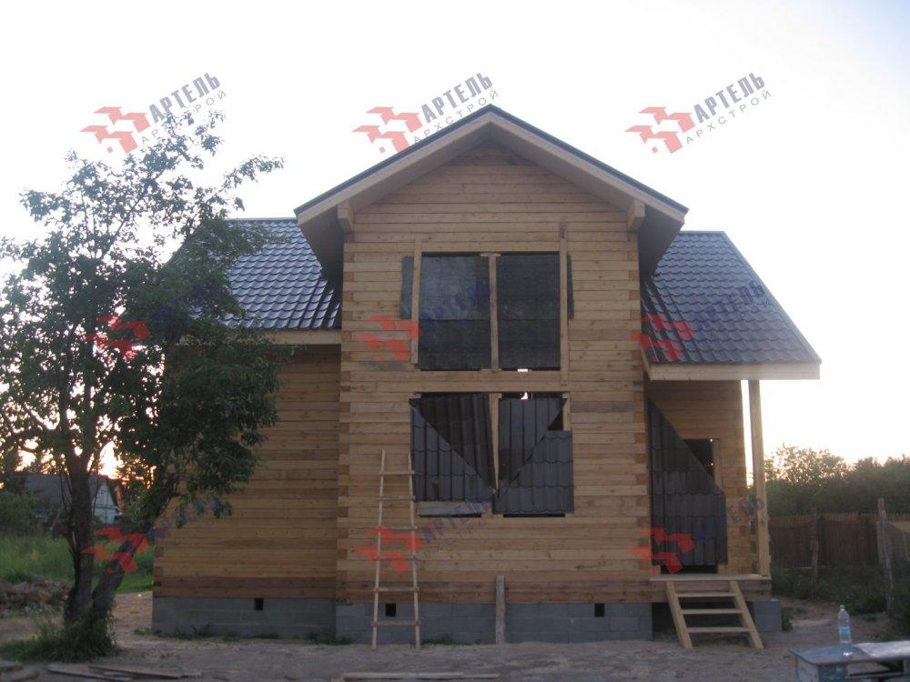дом из профилированного бруса построенный по проекту Вариант 9 О фотография 5174