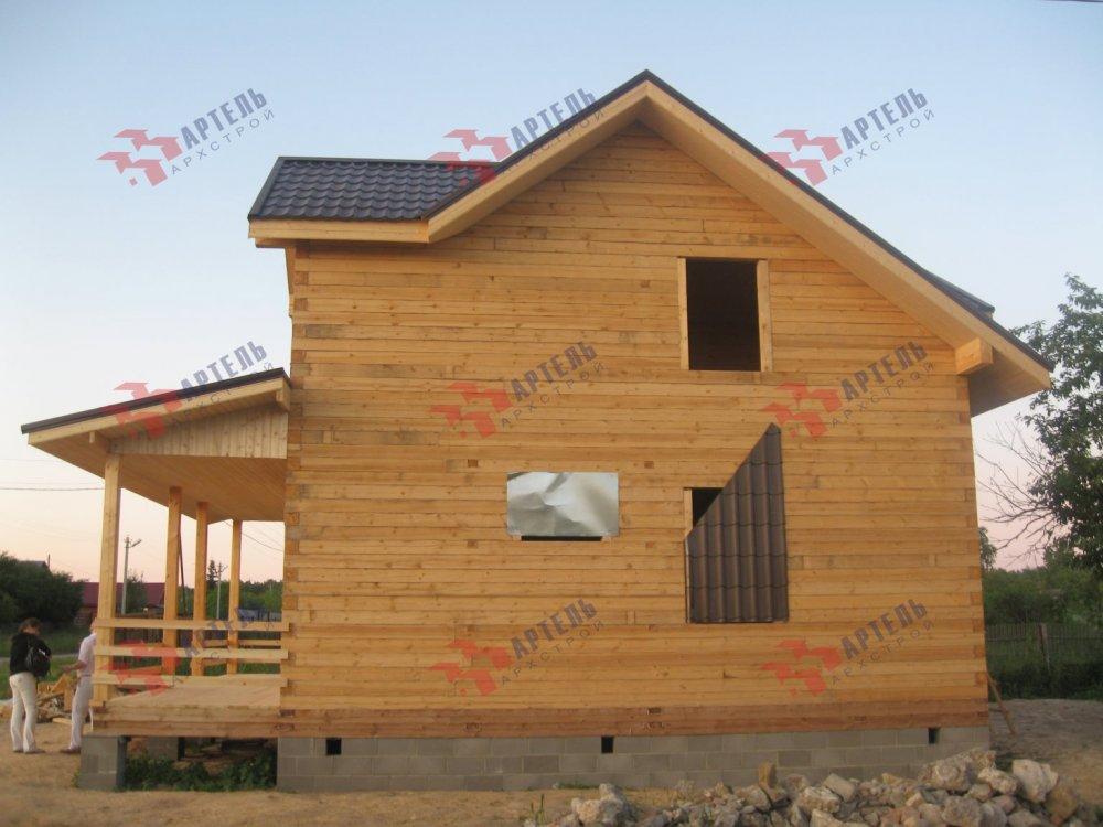 дом из профилированного бруса построенный по проекту Вариант 9 О фотография 5175