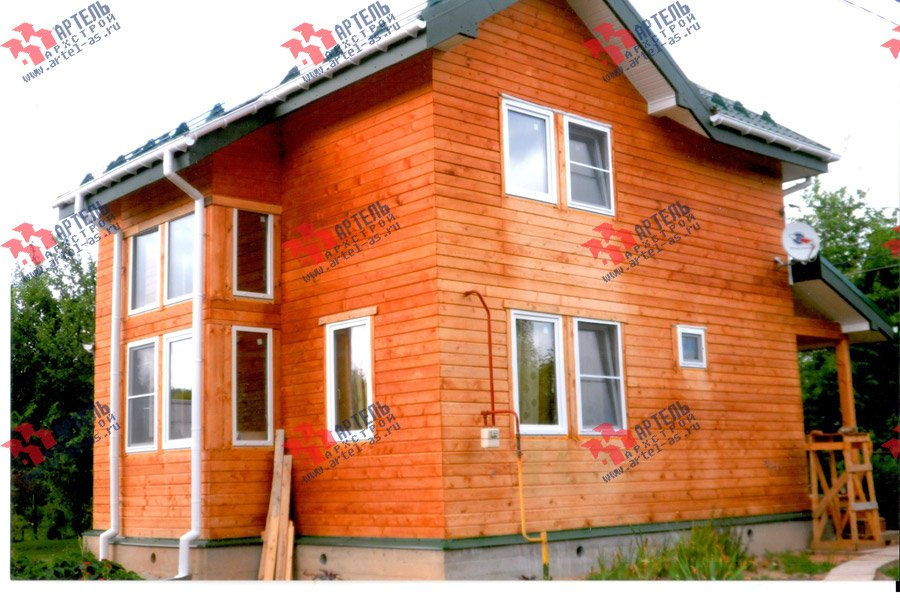 дом из профилированного бруса построенный по проекту Вариант 9.3 А фотография 3699
