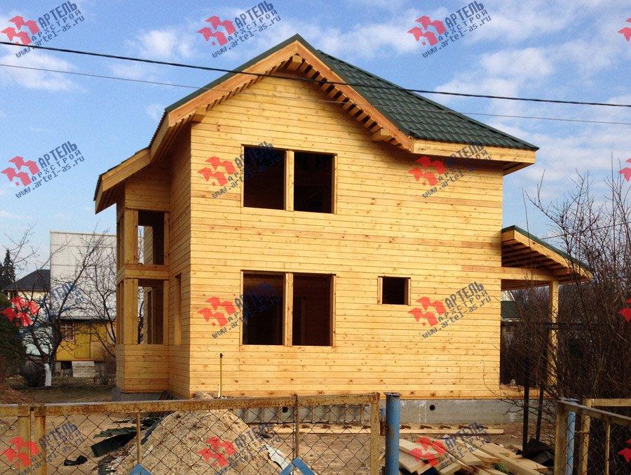 дом из профилированного бруса построенный по проекту Вариант 9.3 А фотография 3700