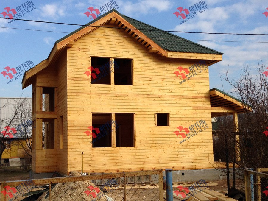 дом из профилированного бруса построенный по проекту Вариант 9.3 А фотография 3701