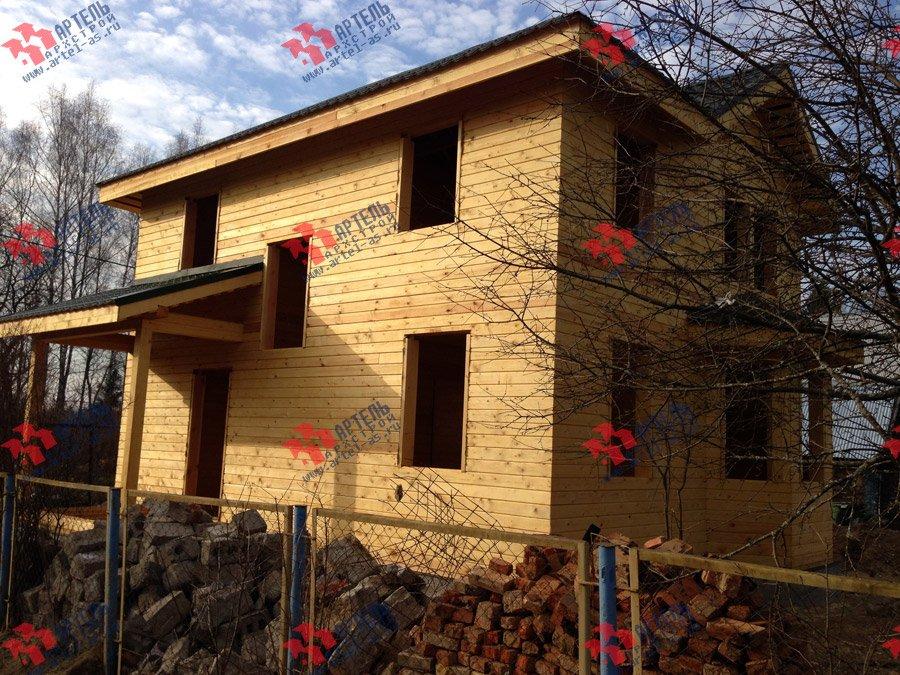 дом из профилированного бруса построенный по проекту Вариант 9.3 А фотография 3702
